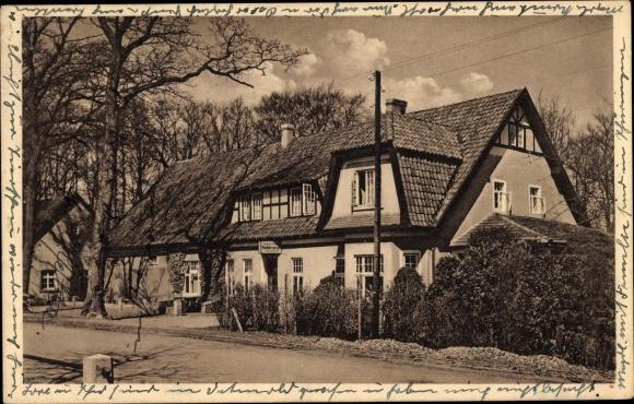 Ak Hesepe Bramsche in Niedersachsen, Kaffeehaus Waldesruh, Bes. A. Beckmann
