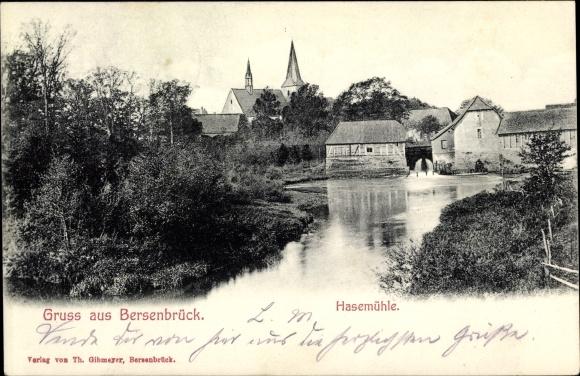 Ak Bersenbrück in Niedersachsen, Hasemühle, Wasserpartie
