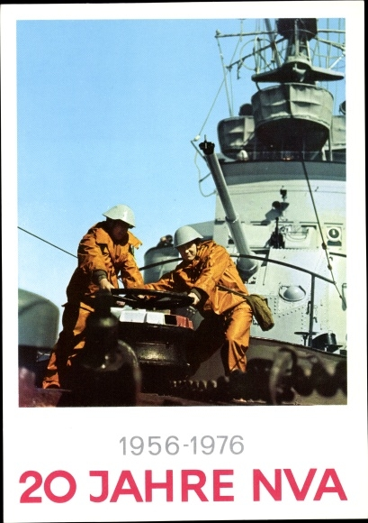Ak 20 Jahre NVA, 1956 bis 1976, Nationale Volksarmee der DDR, Kriegsschiff, Volksmarine