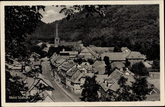 Ak Ilfeld Harztor in Thüringen, Teilansicht vom Ort