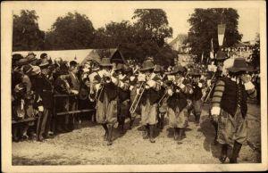 Ak Sélestat Schlettstadt Elsass Bas Rhin, Fêtes du Tricentenaire Français 1934, Corps de Musique