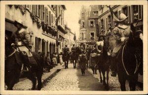 Ak Sélestat Schlettstadt Elsass Bas Rhin, Fêtes du Tricentenaire Français 1934, Maréchal, Cascogne