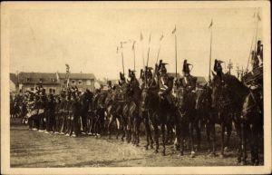 Ak Sélestat Schlettstadt Elsass Bas Rhin, Fêtes du Tricentenaire Français 1934, 2. Lanciers 1870