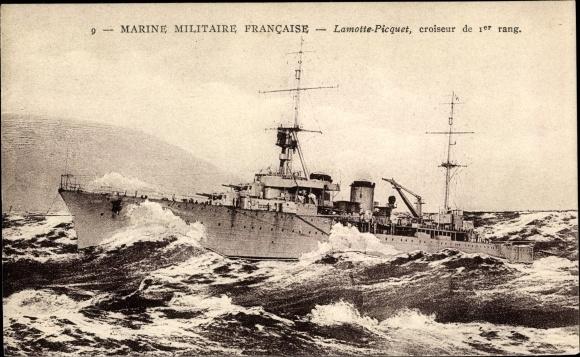 Ak Französisches Kriegsschiff, Lamotte Picquet, Croiseur de 1er Rang, Marine Militaire Francaise