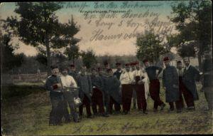 Ak Kriegsgefangene Franzosen, Kriegsgefangenenlager, I. WK