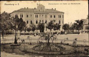 Ak Naumburg an der Saale, Bismarckplatz mit Hotel zur Reichskrone