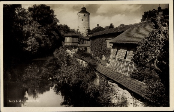 Ak Isny im Allgäu Baden Württemberg, Blick zum Diebsturm