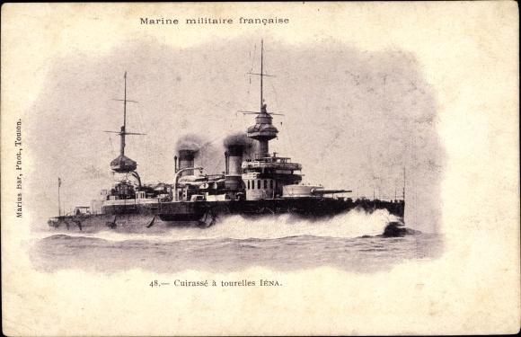 Ak Französisches Kriegsschiff, Iéna, Cuirassé d'Escadre, Marine Militaire Francaise