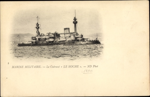 Ak Französisches Kriegsschiff, Le Hoche, Cuirassé, Marine Militaire