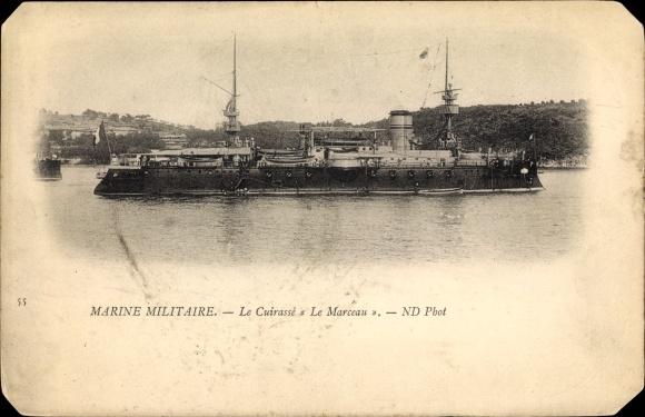 Ak Französisches Kriegsschiff, Le Marceau, Cuirassé, Marine Militaire
