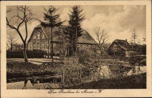 Ak Münster in Westfalen, Haus Rüschhaus, Außenansicht vom Garten