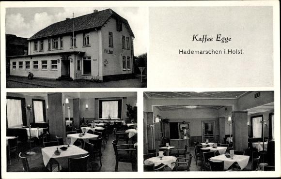 Ak Hanerau Hademarschen in Schleswig Holstein, Kaffee Egge, Innenansichten