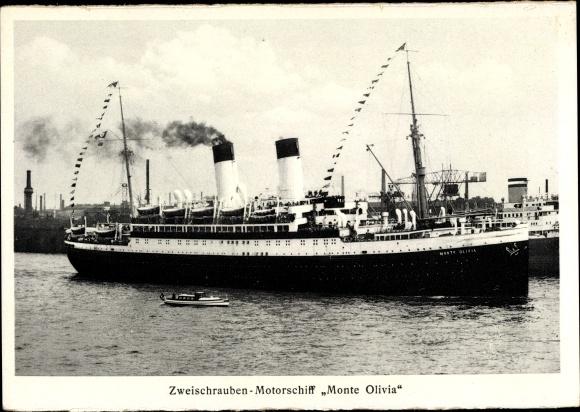 Ak Dampfschiff Monte Olivia, Zweischrauben Motorschiff, HSDG
