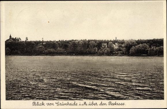 Ak Grünheide in der Mark, Blick über den Peetzsee, Wasserpartie