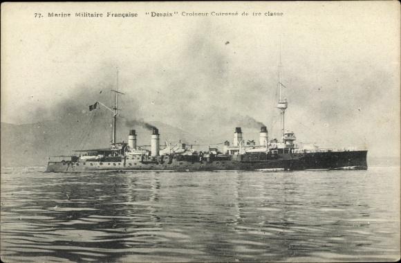 Ak Französisches Kriegsschiff, Desaix, Croiseur Cuirassé de 1re classe, Marine Militaire Francaise