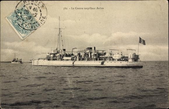 Ak Französisches Kriegsschiff, Baliste, Contre Torpilleur