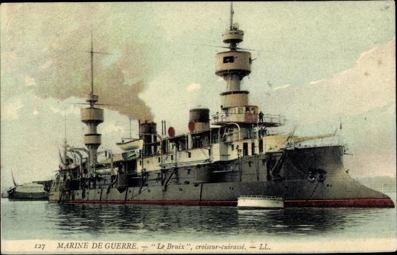 Ak Französisches Kriegsschiff, Le Bruix, Croiseur Cuirassé, Marine de Guerre