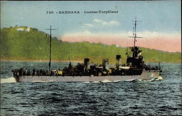 Ak Französisches Kriegsschiff, Bambara, Contre Torpilleur