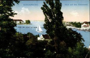 Ak Sønderborg Sonderburg Dänemark, Blick auf den Alsensund, Meer