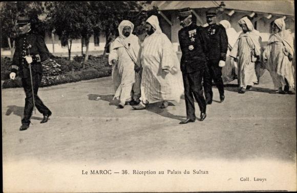 Ak Marokko, Réception au Palais du Sultan, Mulai Abd al Hafiz