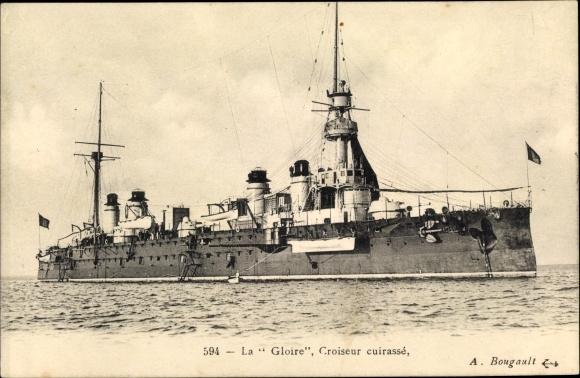 Ak Französisches Kriegsschiff, La Gloire, Croiseur Cuirassé