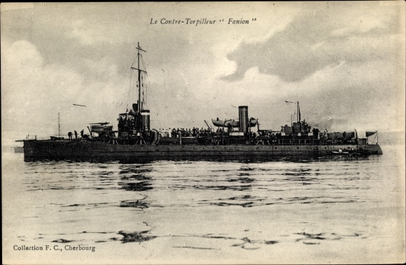 Ak Französisches Kriegsschiff, Fanion, Contre Torpilleur