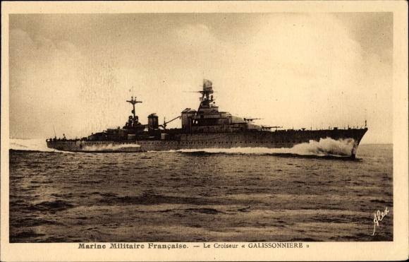Ak Französisches Kriegsschiff, Galissonniere, Croiseur, Marine Militaire Francaise