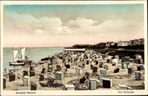Ak Ostseebad Bansin Heringsdorf auf Usedom, Partie vom Strand