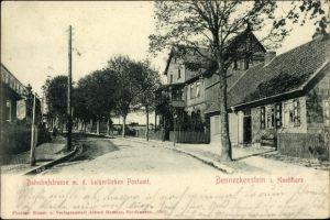 Ak Benneckenstein Oberharz am Brocken, Bahnhofstraße mit dem kaiserlichen Postamt
