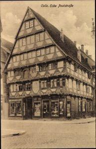 Ak Celle in Niedersachsen, Ecke an der Poststraße