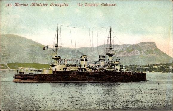 Ak Französisches Kriegsschiff, Le Gaulois, Cuirassé, Marine Militaire Francaise