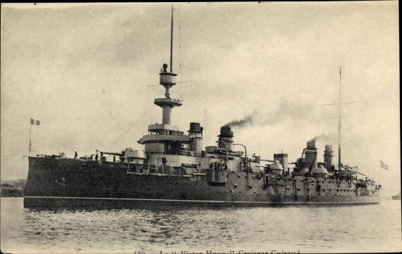 Ak Französisches Kriegsschiff, Victor Hugo, Croiseur Cuirassé