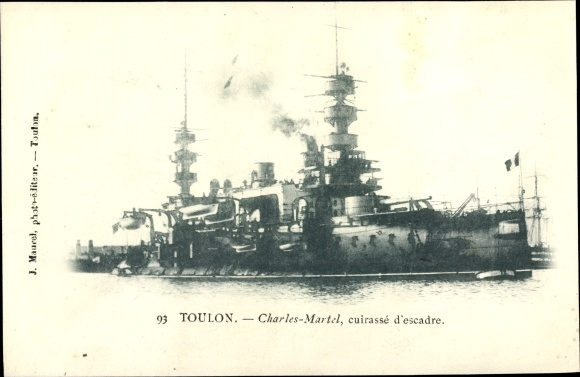 Ak Toulon Var, Französisches Kriegsschiff, Charles Martel, Cuirassé d'Escadre