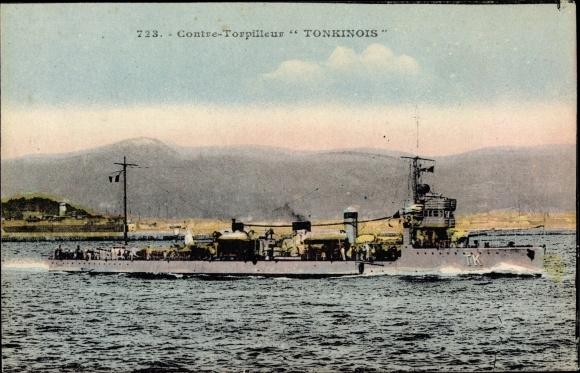 Ak Französisches Kriegsschiff, Tonkinois, TK, Contre Torpilleur