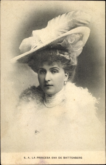 Ak Königin Victoria von Spanien, Ehefrau König Alfons XIII. von Spanien, Portrait