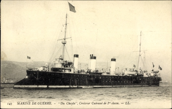 Ak Französisches Kriegsschiff, Du Chayla, Croiseur Cuirassé de 1re Classe, Marine de Guerre