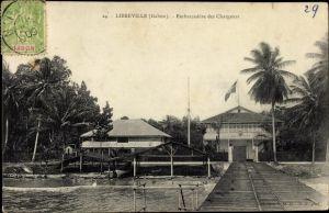 Ak Libreville Gabun, Embarcadère des Chargeurs, Anlegestelle