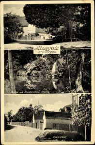 Ak Sitzenroda Belgern Schildau in Nordsachsen, Simonslinde, Opferstein, Kuntzsches Mühle