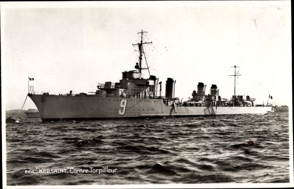 Ak Französisches Kriegsschiff, Kersaint, 9, Contre Torpilleur