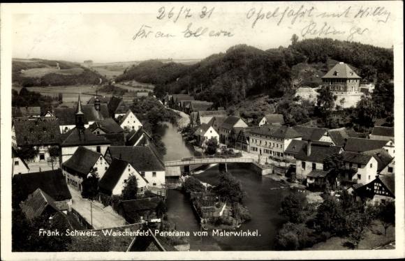 Ak Waischenfeld in der Fränkischen Schweiz Bayern, Panorama vom Malerwinkel
