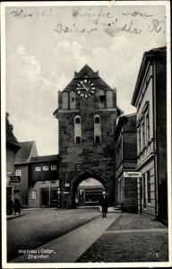 Ak Snamensk Wehlau Ostpreußen, Steintor, Straßenpartie