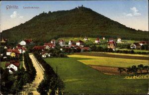Ak Görlitz in der Lausitz, Teilansicht vom Ort, Blick zur Landeskrone
