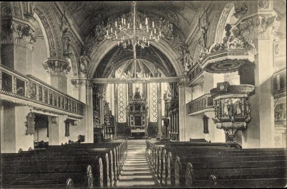 Ak Celle in Niedersachsen, Innenansicht von der Stadtkirche