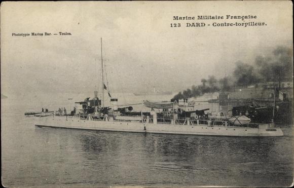 Ak Französisches Kriegsschiff, Dard, Contre Torpilleur, Marine Militaire Francaise