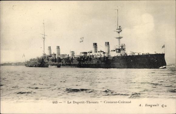 Ak Französisches Kriegsschiff, Dupetit Thouars, Croiseur Cuirasse