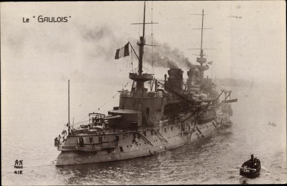 Ak Französisches Kriegsschiff, Gaulois, Cuirassé