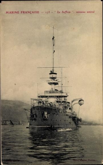 Ak Französisches Kriegsschiff, Suffre, Vaisseau Amiral, Marine Francaise