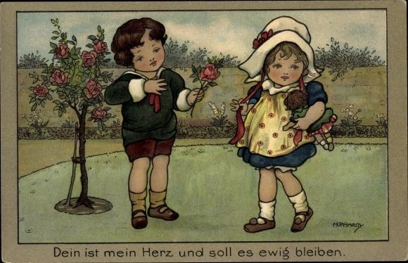 Künstler Ak Hardy, H. F., Dein ist mein Herz und soll es ewig bleiben, Junge und Mädchen 0