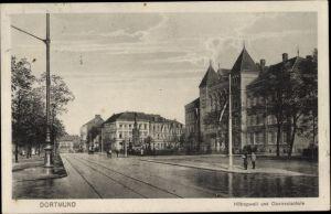 Ak Dortmund im Ruhrgebiet, Straßenpartie, Hiltropwall und Oberrealschule
