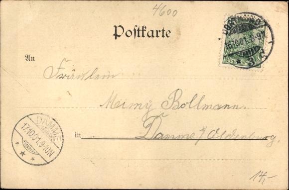 Ak Dortmund im Ruhrgebiet, Kaiserliche Oberpostdirektion 1